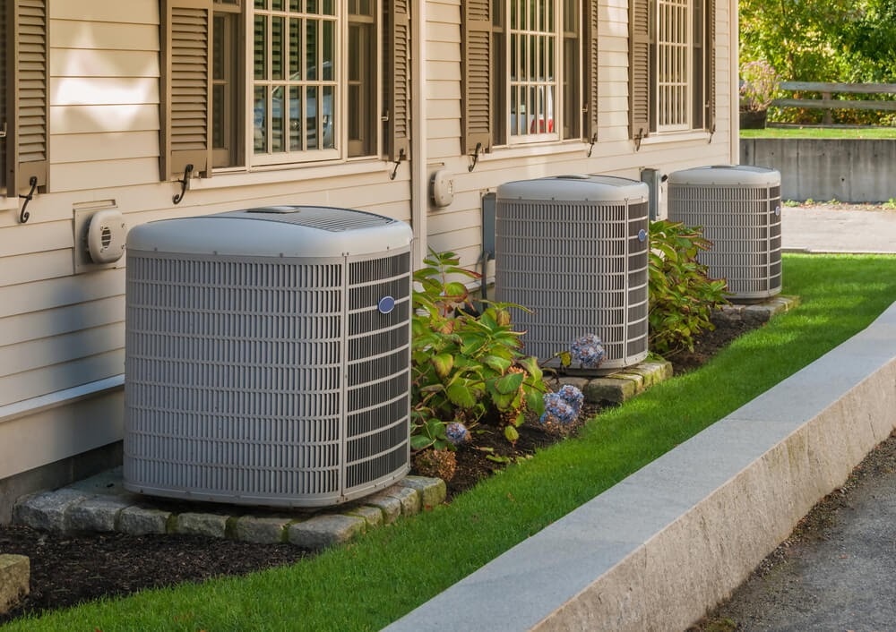 Row of A/C units along building