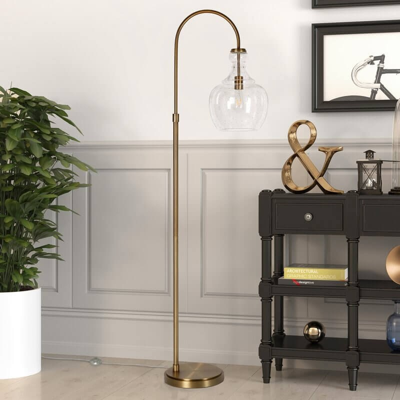 "Dayna 65"" Arched/Arc Floor Lamp"