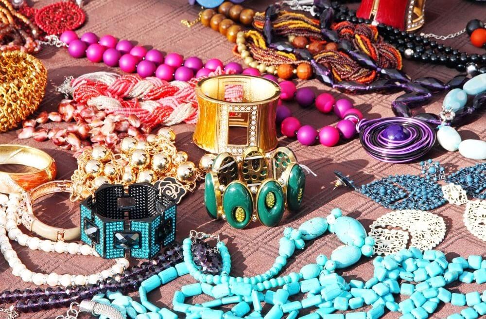 Pile of costume jewelry