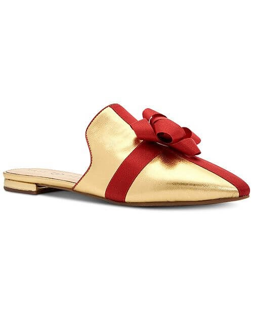 Gold and Red woman's mule