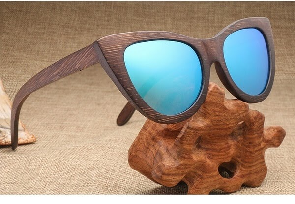 AZB Cat Eye Wood Sunglasses