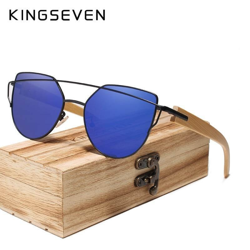 Kingseven Handmade Wood Sunglasses