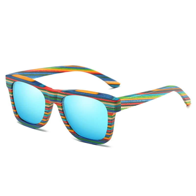 Wootzi Colorful Bamboo Sunglasses