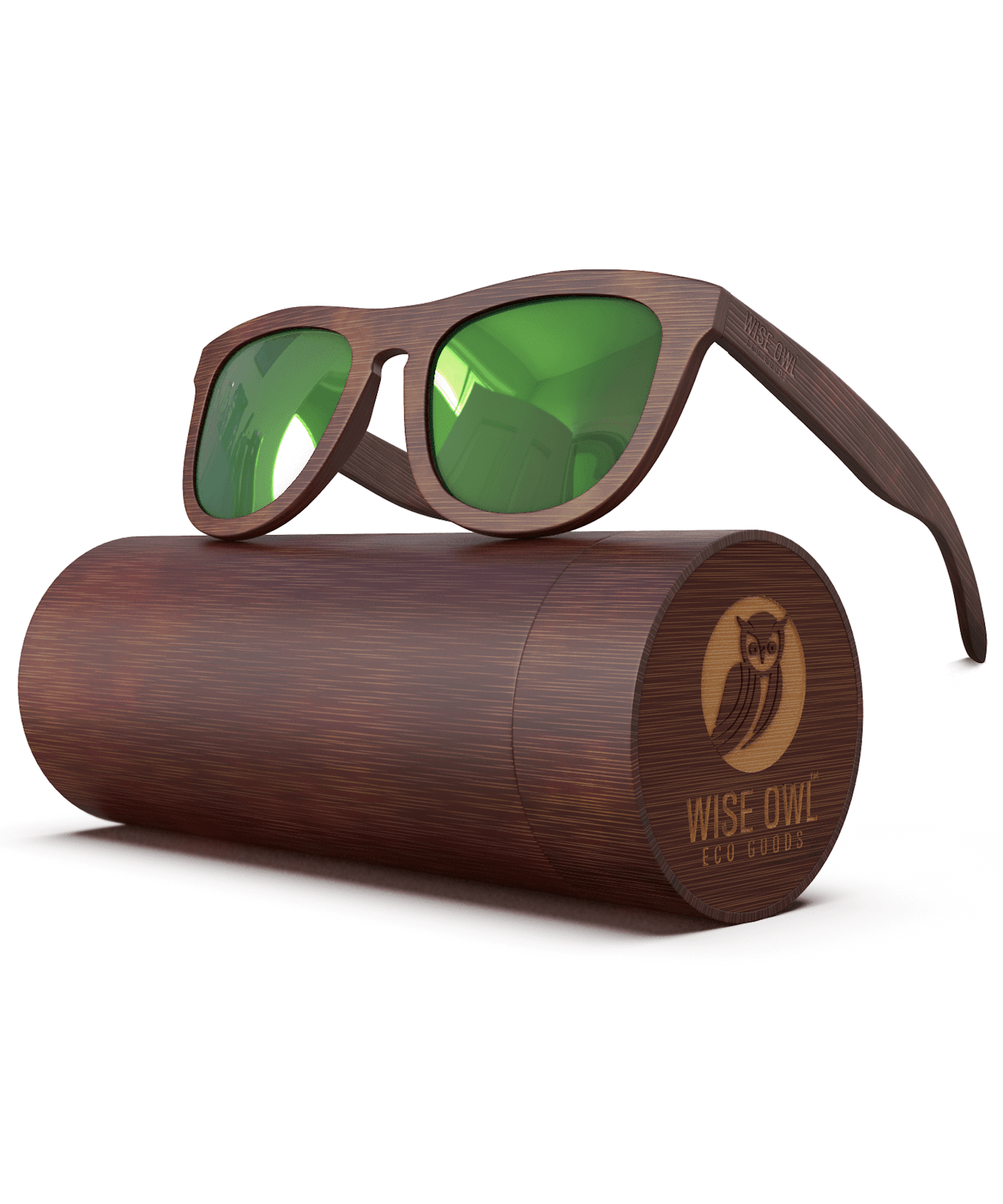 Wise Owl Power Green Sunglasses