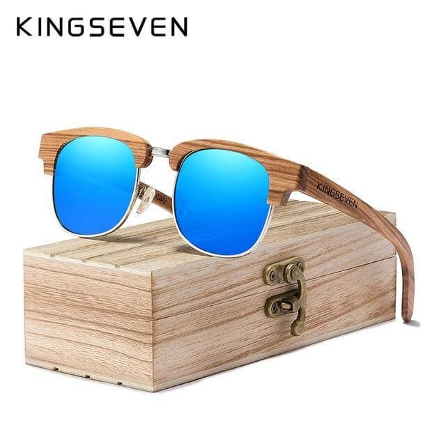 Kingseven Bamboo New Retro Sunglasses