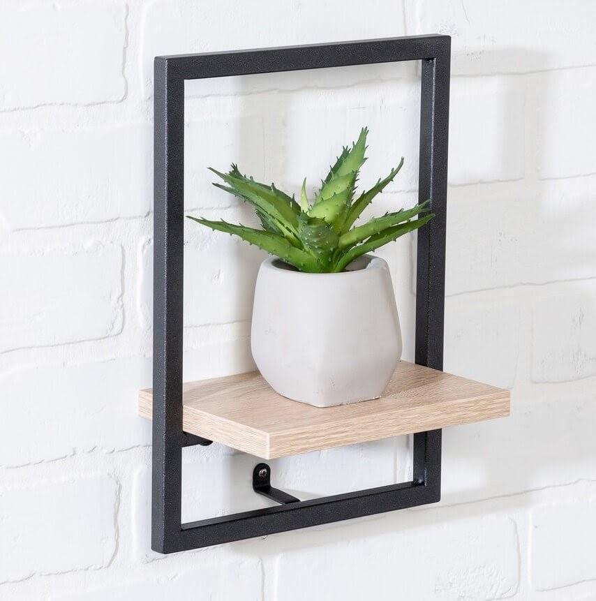 Honey-Can-Do Small Black Vertical Shelf