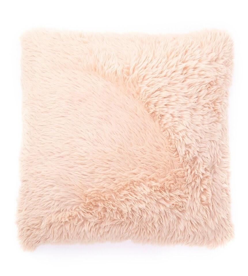 Faux Fur Accent Pillow