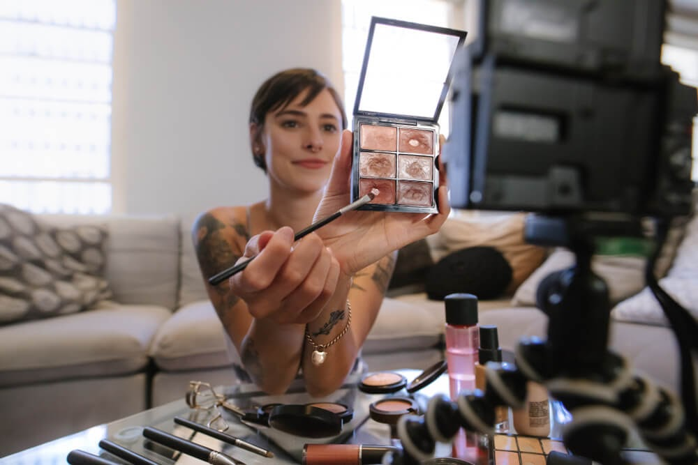 Behind the Scenes on a makeup video
