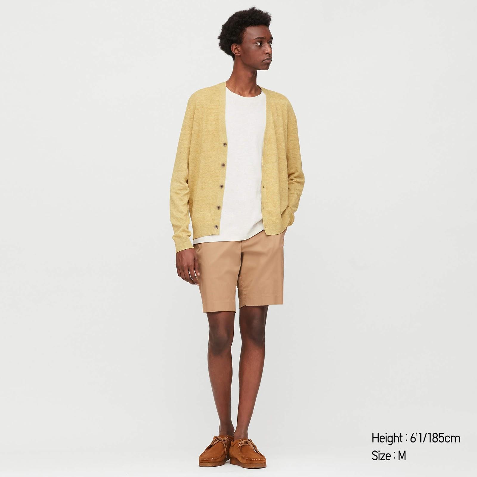Linen Blended V-Neck Cardigan