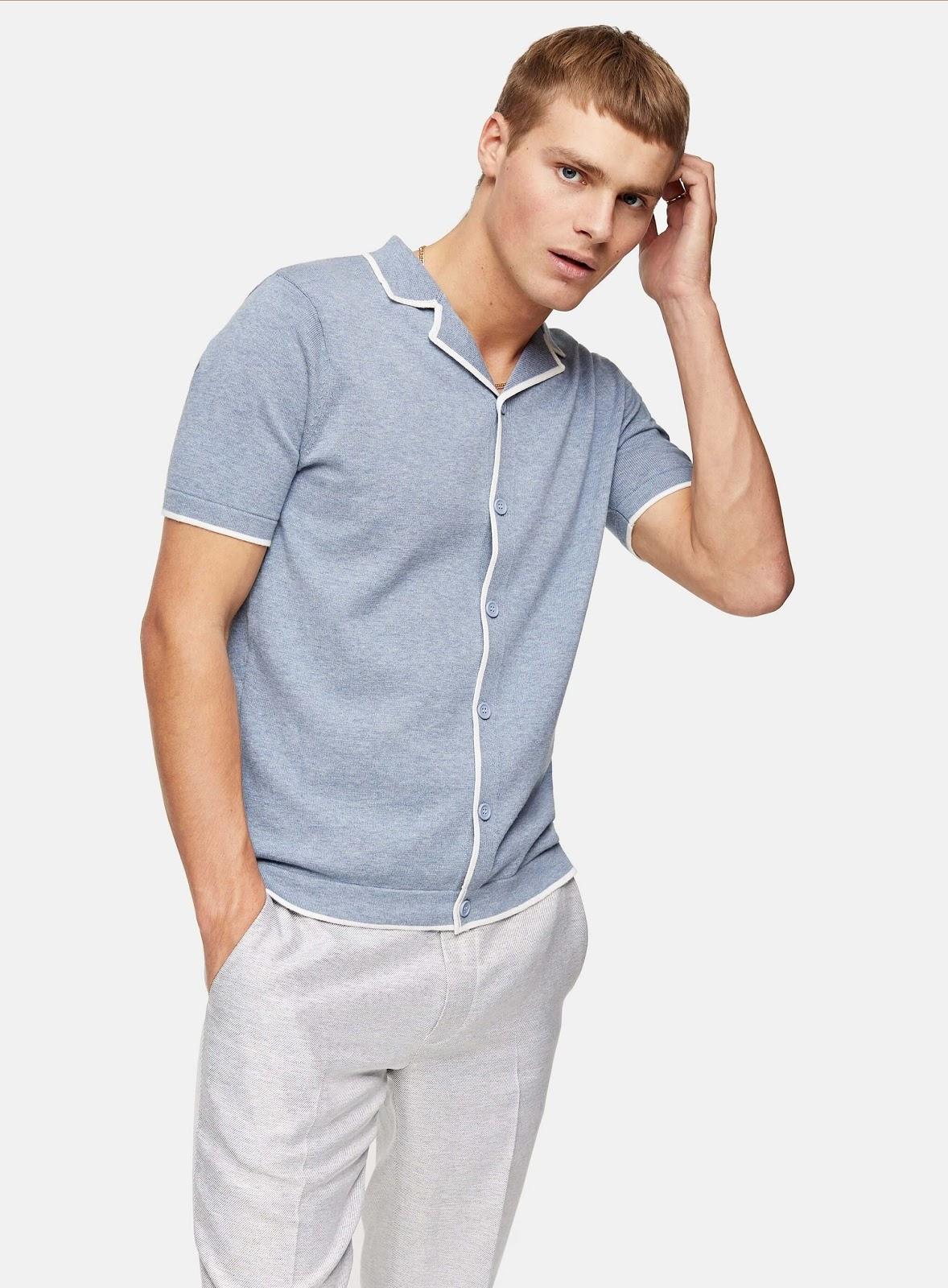 Topman Revere Knitted Shirt