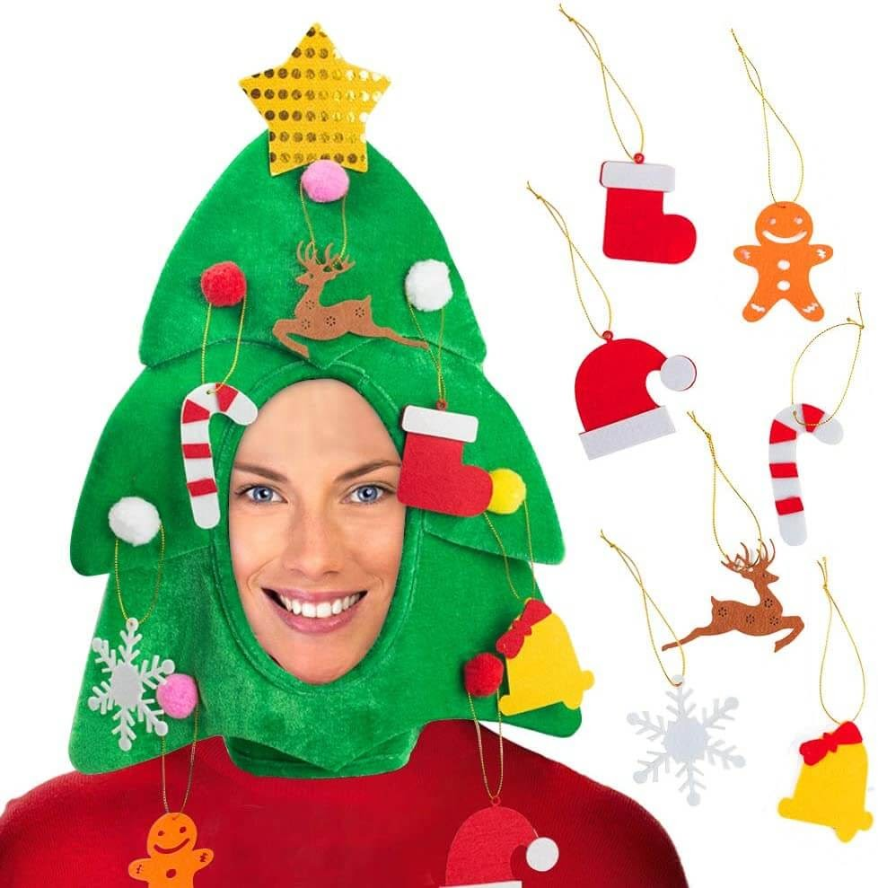 The Worst Christmas Tree Hat Ever