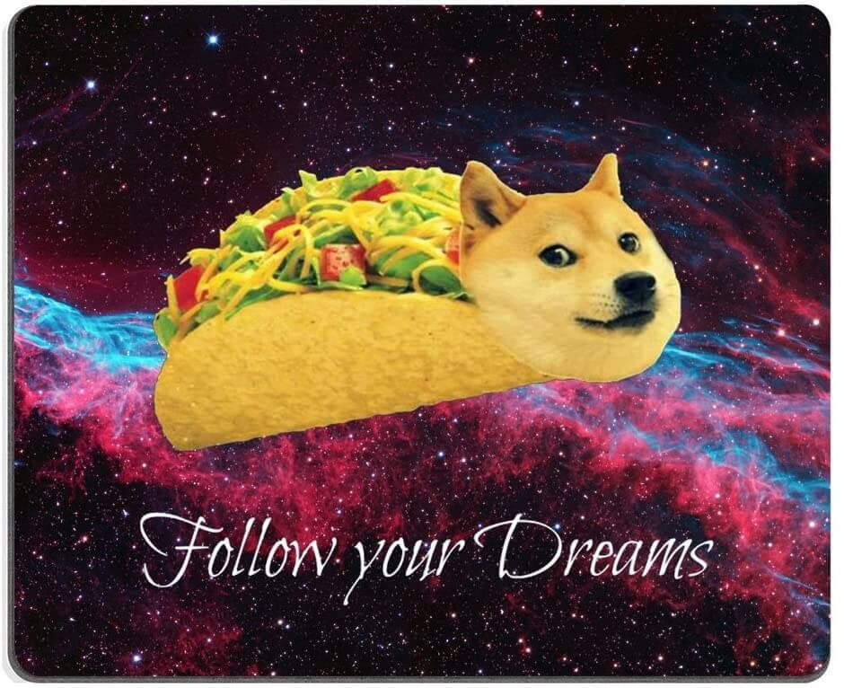 Doge in Taco Rolls Mousepad