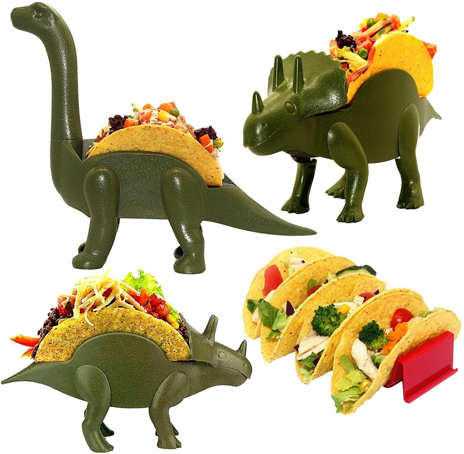 Dinosaur Taco Holder Set