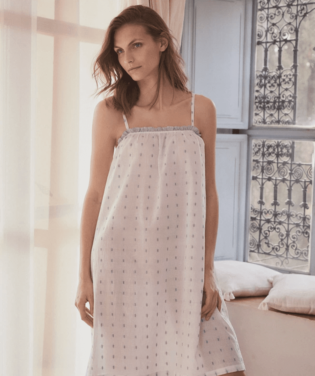 Cotton Jacquard Nightgown
