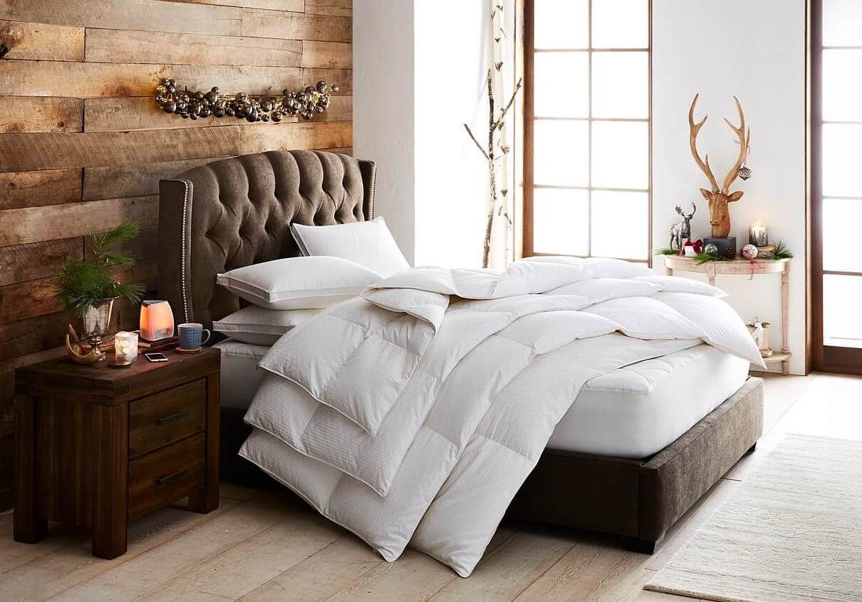 Luxury Bedding in fall room