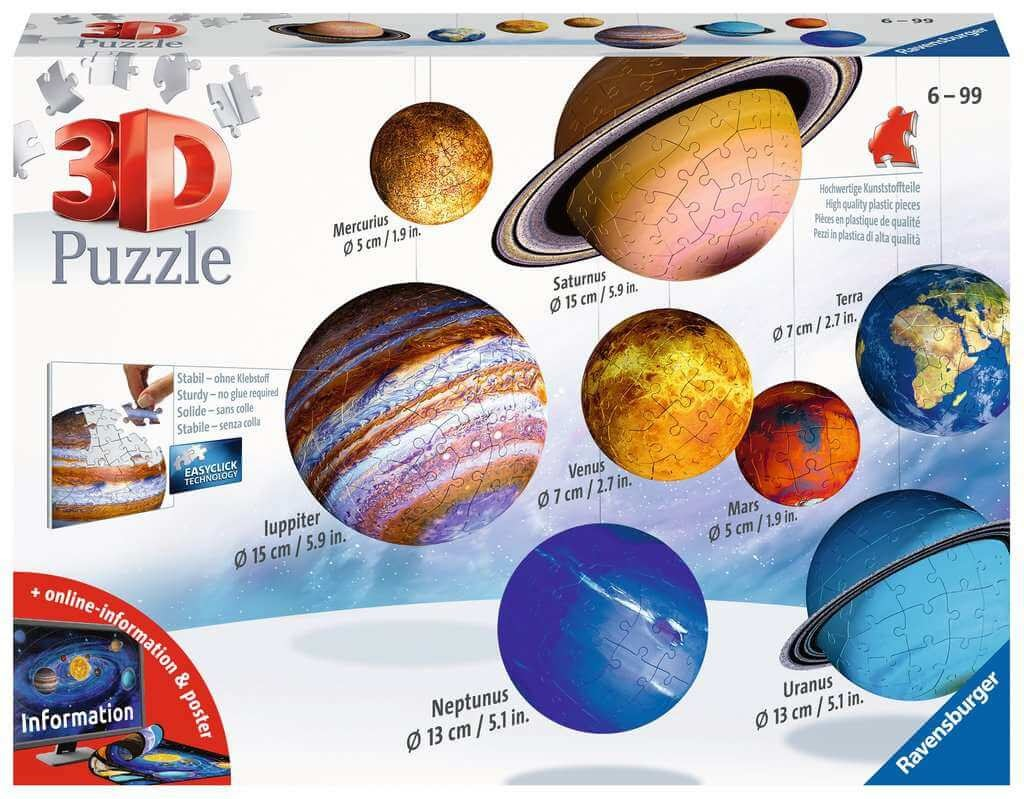 Solar System 3D Puzzle Set