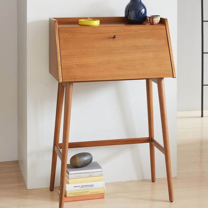 West Elm Mid-Century Mini Secretary Desk