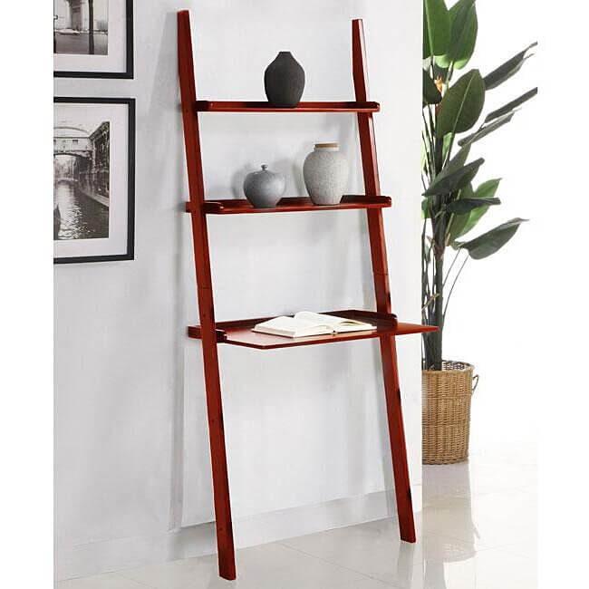 Tyriq Ladder Bookcase Ladder Desk
