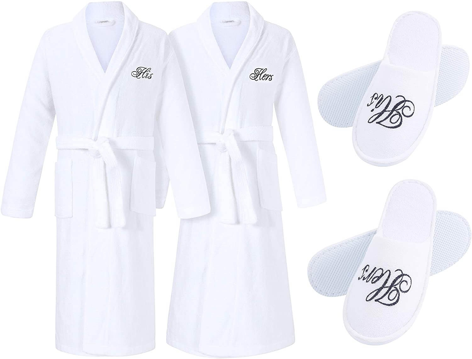 His & Hers Robes and Slippers