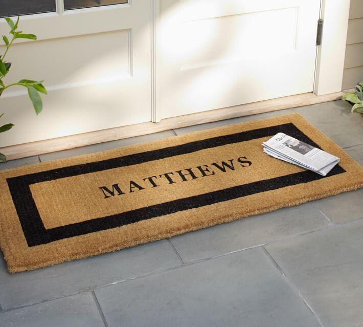 Personalized Framed Door Mat
