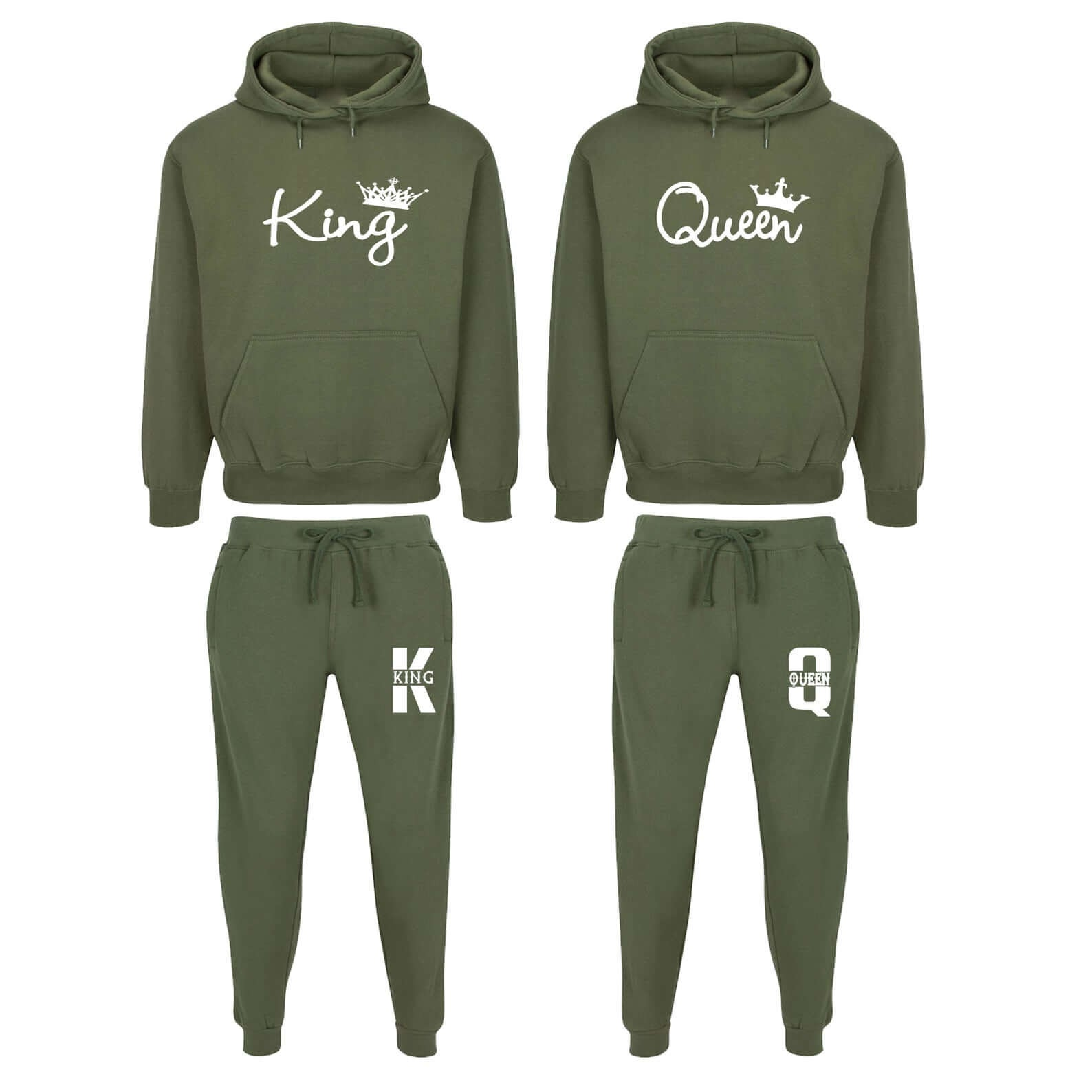 King and Queen Matching Sweatshirts