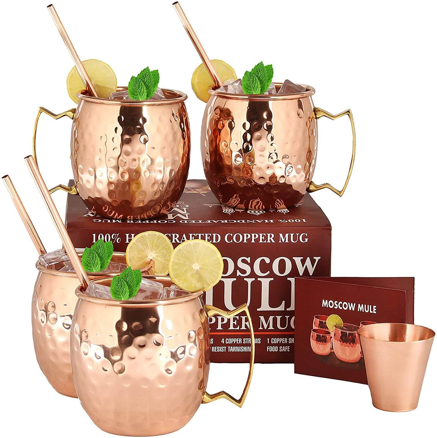 Moscow Mule Copper Mug Set
