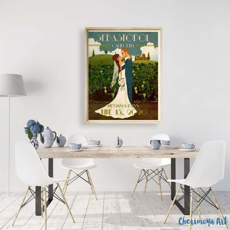 Custom Wedding Poster