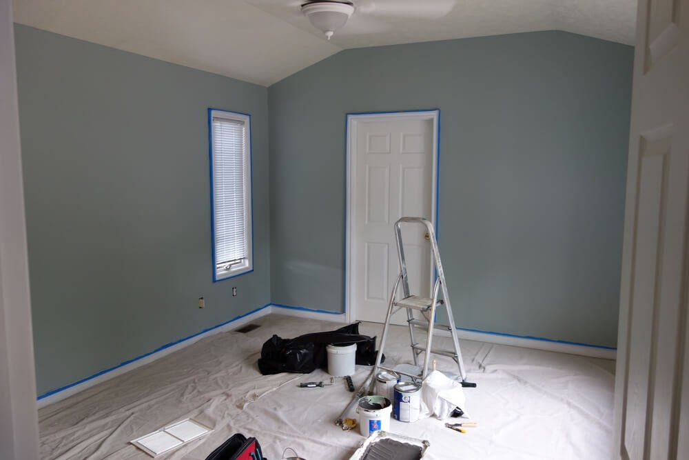 Empty room room getting painted