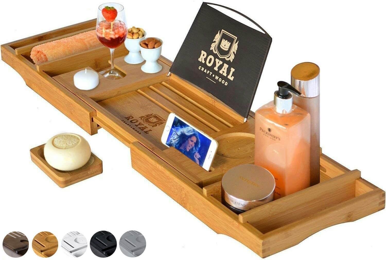 Wood Bathtub Caddy