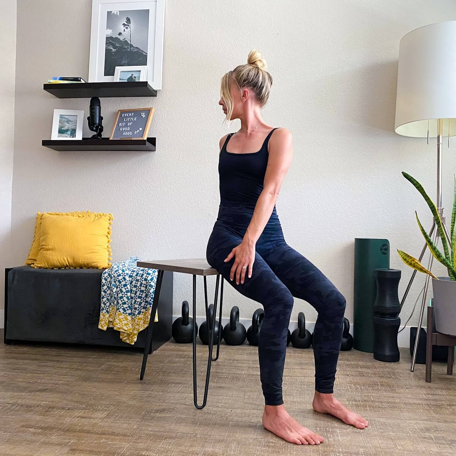 Spinal rotation in chair