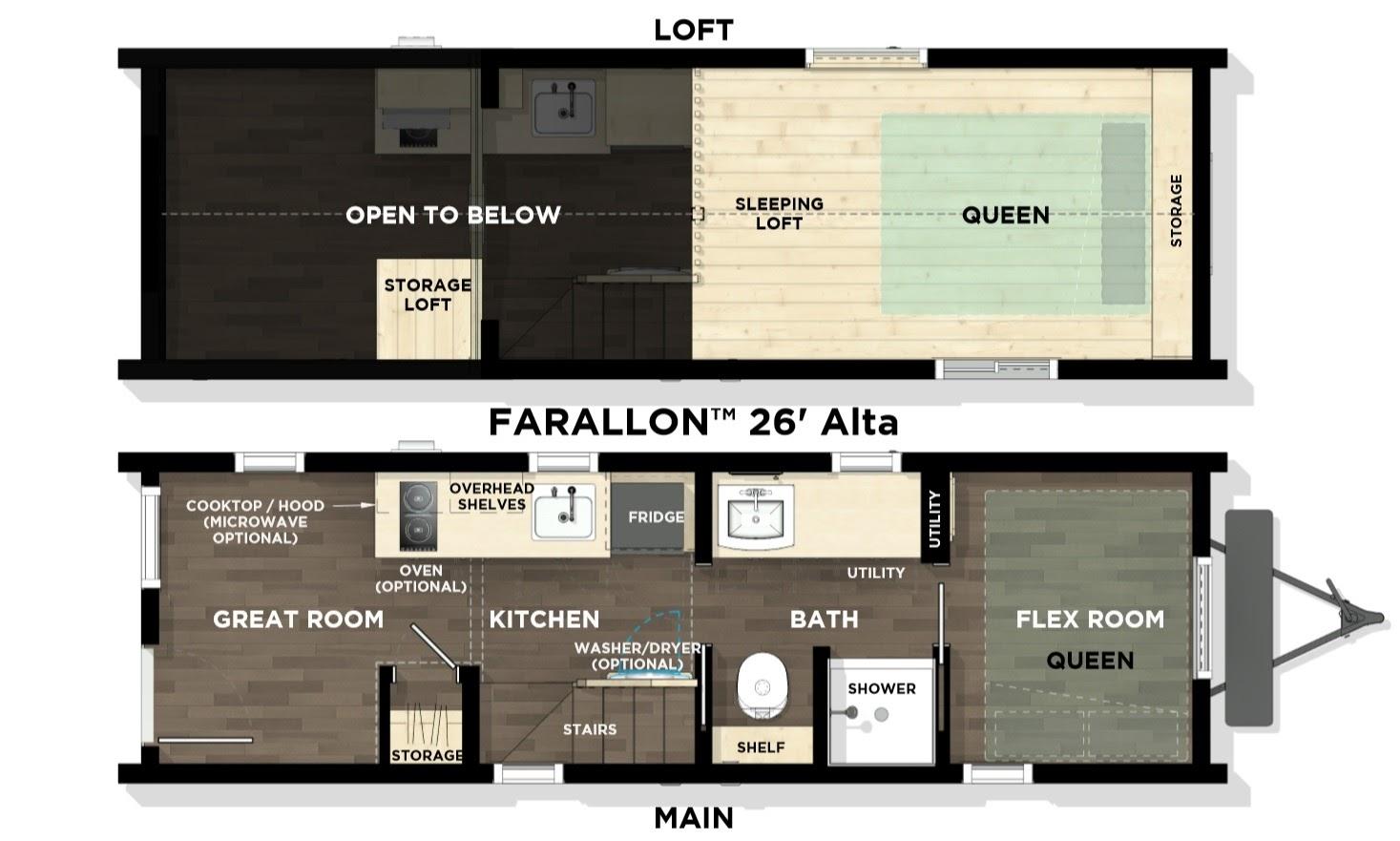 floorplan of tiny house
