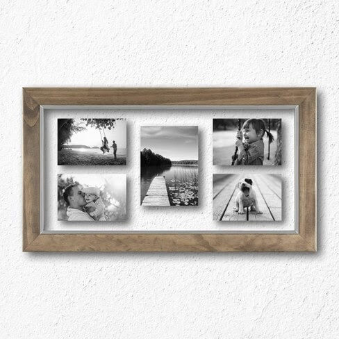 Target wood and metal picture frame
