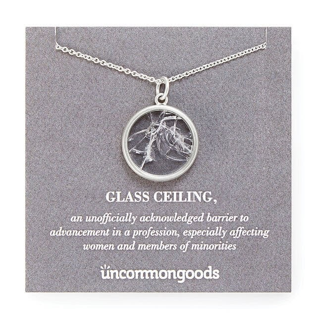 Glass ceiling necklace from Uncommon Goods