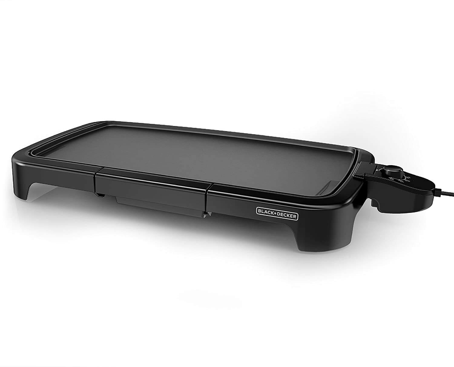 BLACK+DECKER GD2011B Family-Sized Electric Griddle with Drip Tray