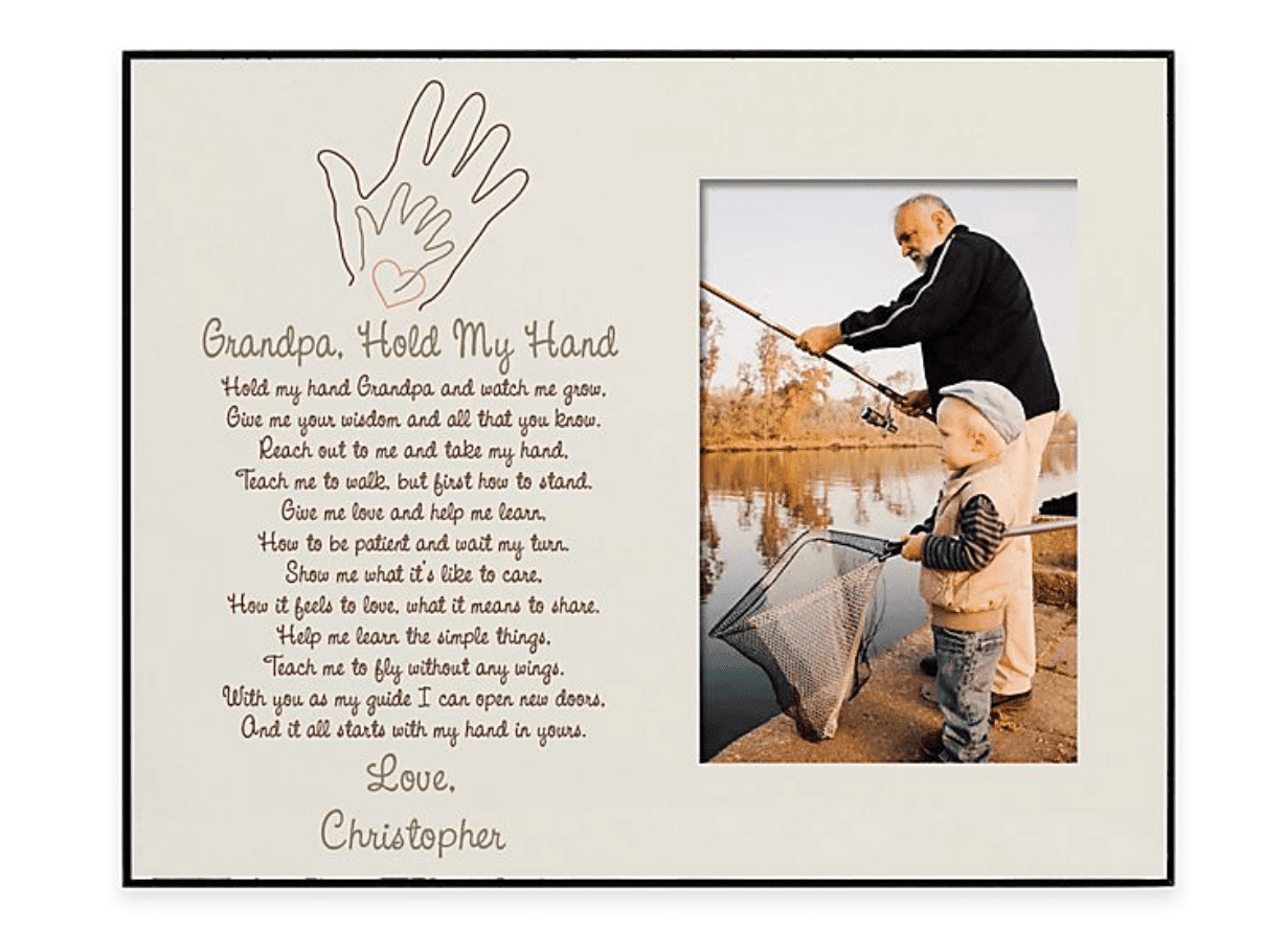 Grandpa Hold My Hand Picture Frame