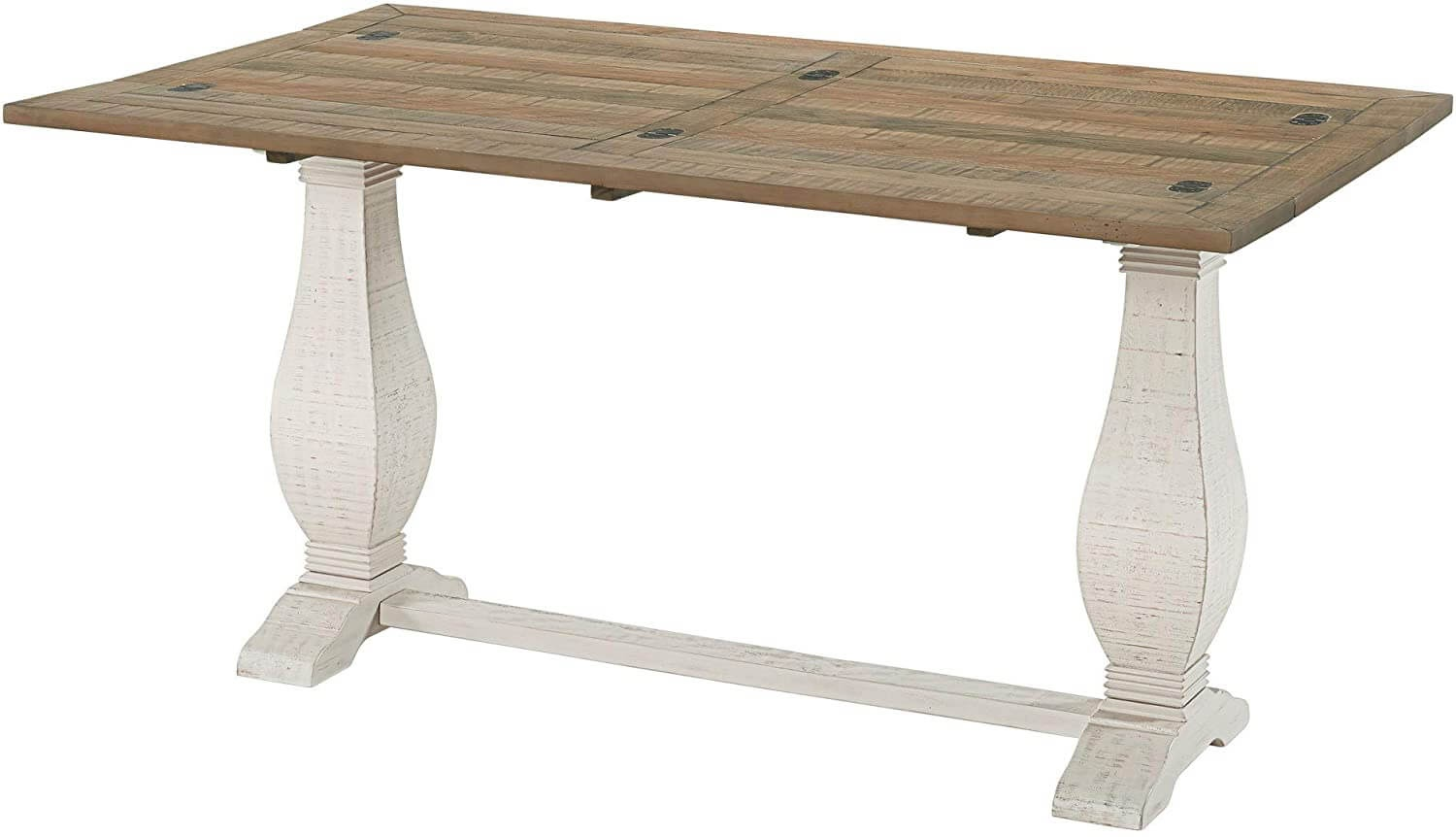 Benjara Extendable Console Table with Pedestal Base