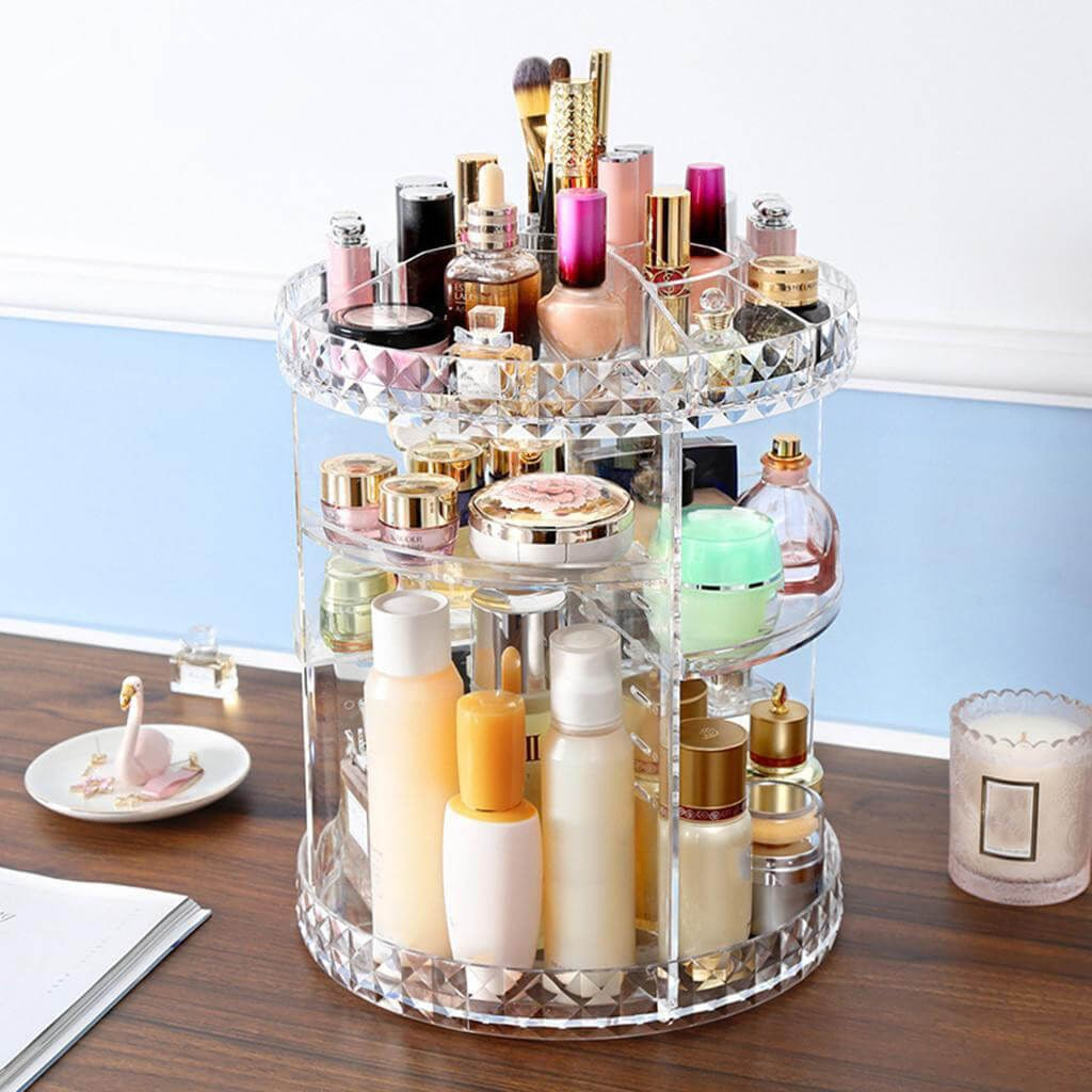 360 Degree Rotating Acrylic Makeup Organizer