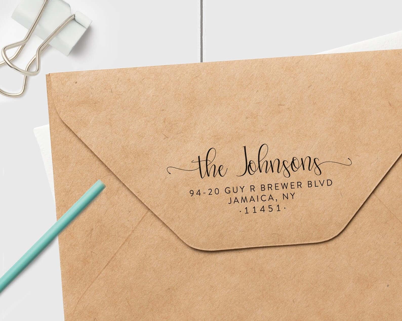 Return Address Stamp
