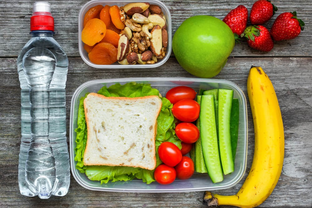 Snacks and a packed lunch