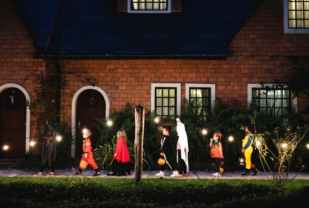 Kids going trick or treating