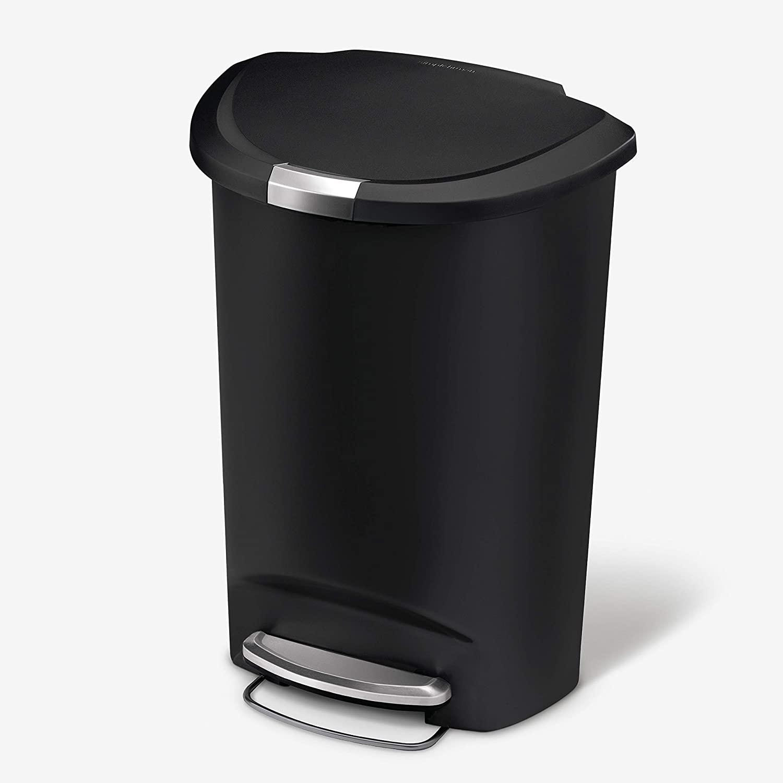 Simplehuman Semi-Round Kitchen Step Trash Can