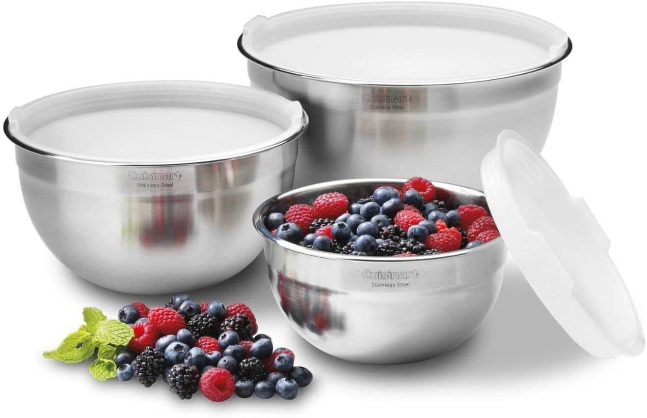 Cuisinart Classic Stainless Steel Mixing Bowls