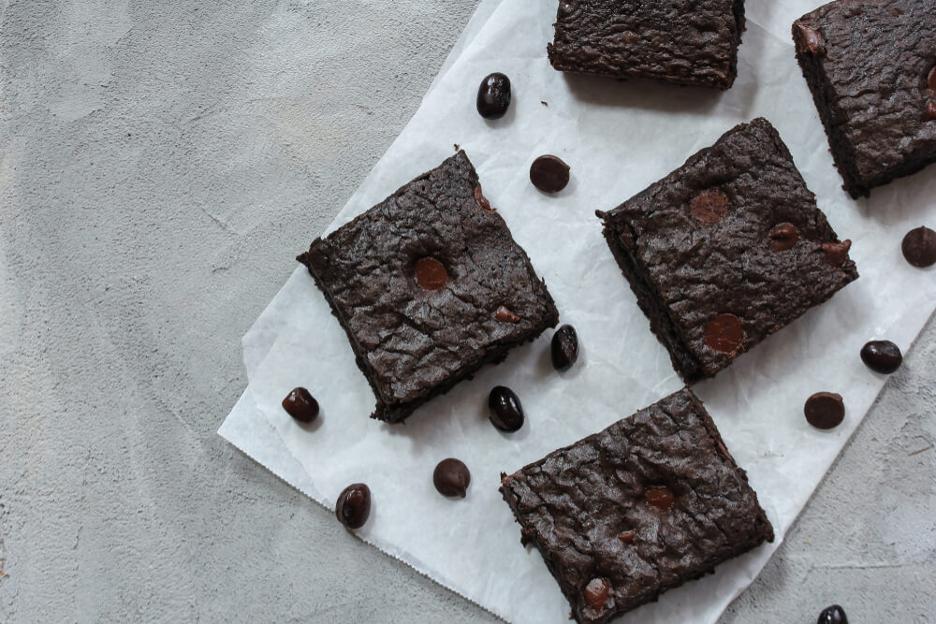 Chocolate chip black bean brownies