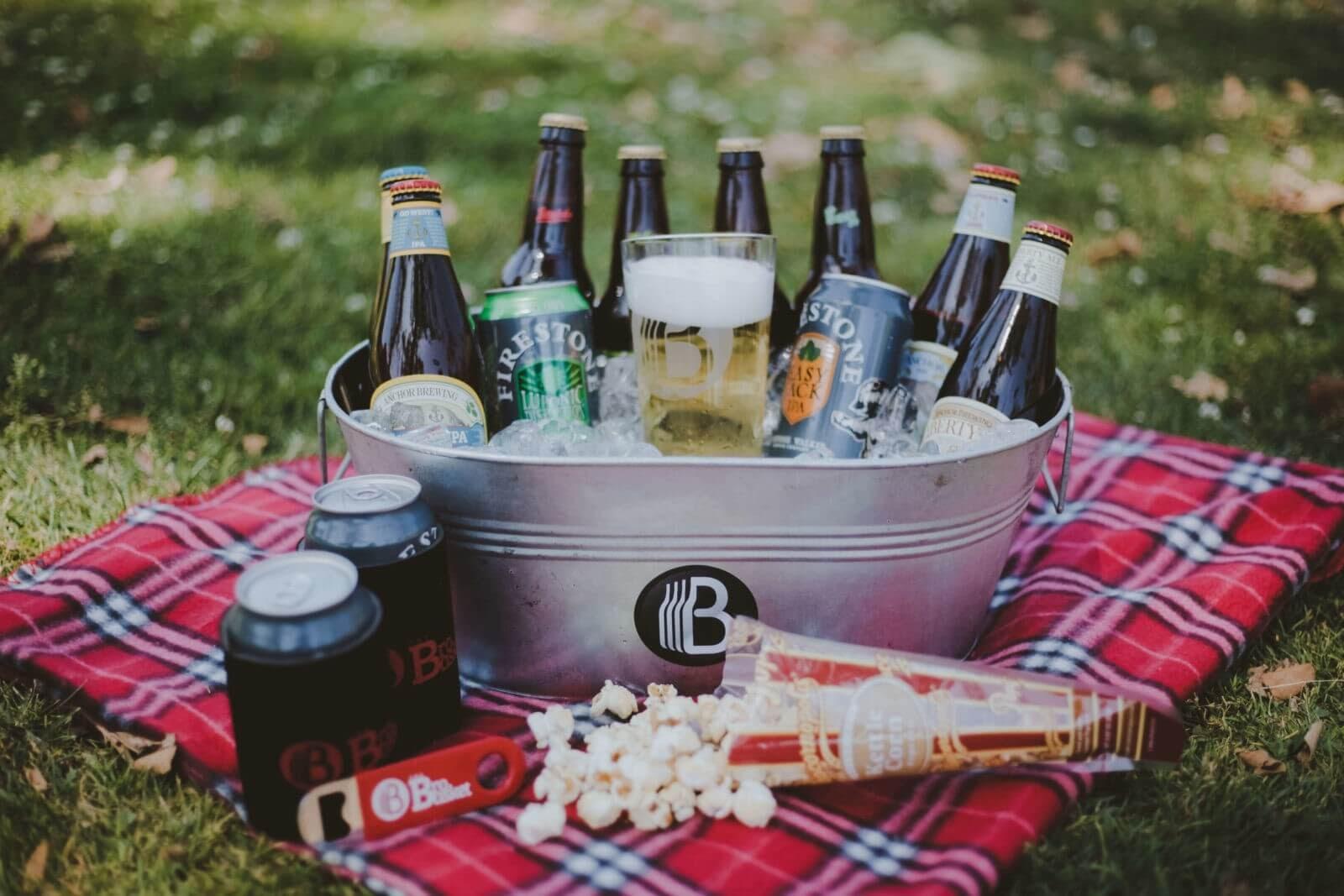 Beer in a tub