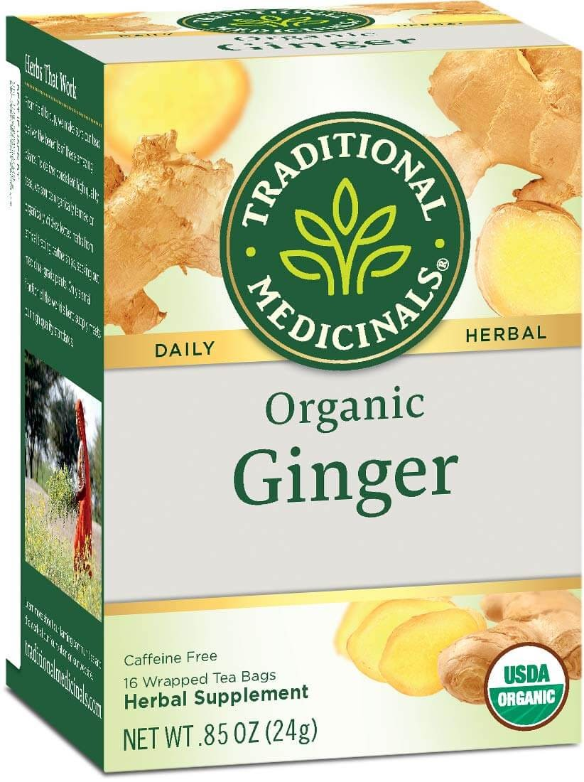 Traditions Medicinals Organic Ginger Herbal Leaf Tea