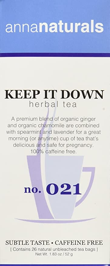 Anne Naturals Keep it Down Herbal Tea