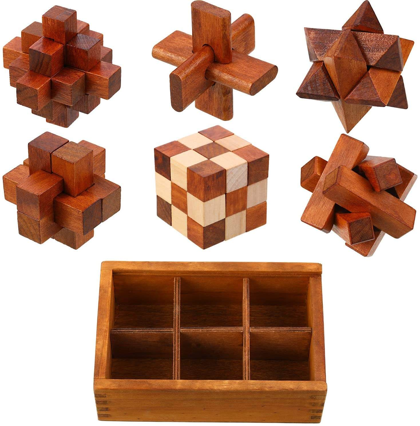 wooden brain teasers