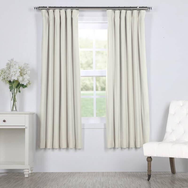 Albert Velvet Solid Thermal Blackout Curtain Panel