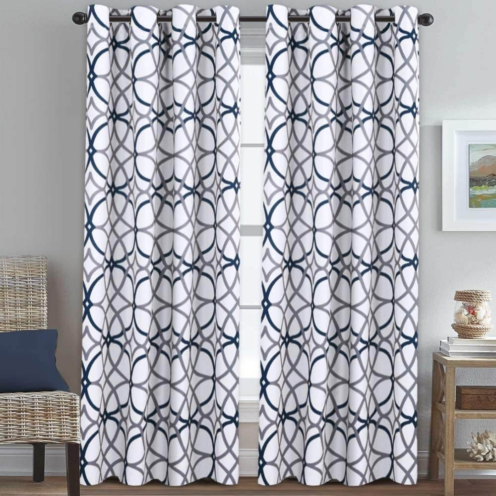 Geo Pattern Thermal Insulated Blackout Drapes