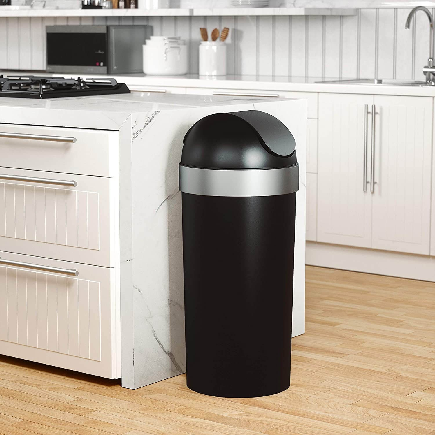 Umbra Venti 16-Gallon Swing Top Kitchen Trash Can